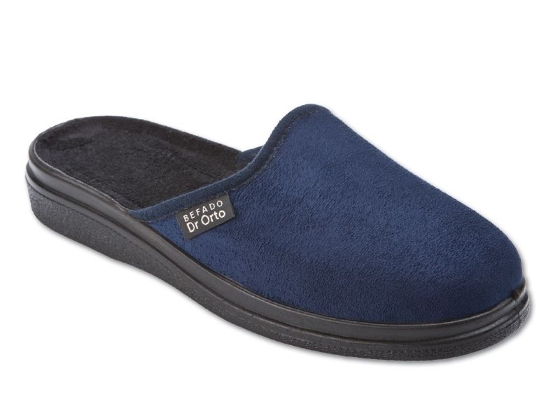 f39c32593b5 BEFADO DR ORTO 125M006 Ортопедични мъжки чехли - сини за широк крак