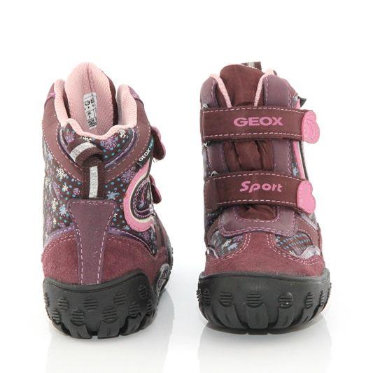 6b91806b844 Дишащи детски апрески GEOX - бордо със сърчица   Размери : 23-Обувки ...