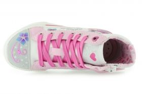 Girls' Sneakers GEOX J MOVIE J42L5E 0ANBJ C0406 (white/pink)